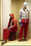 Mężczyzna zimy mody suknia na mannequins Obraz Stock