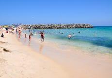 Mężczyzna Zrobił Groyne: Cottesloe plaża zdjęcie stock