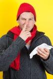 Mężczyzna zrywania nos Obraz Royalty Free