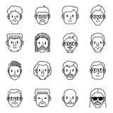 Mężczyzny avatar ikony Wektorowa ilustracja mężczyzn charaktery obraz stock