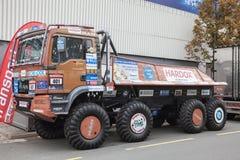 MĘŻCZYZNA TGS wiecu rasy ciężarówka Obraz Royalty Free