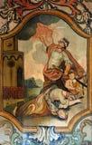 Męczeństwo i śmierć St Barbara obraz stock