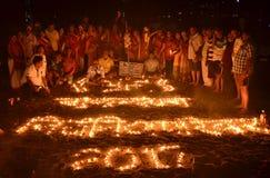 Męczennika dzień w Gaya, Bihar, India obraz stock