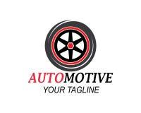 męczy, koła automobilowy ikona logo vectortemplate ilustracja wektor
