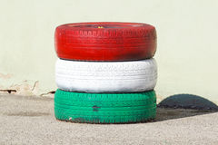 Męczy obroty handlowych dowód męczy z czerwonymi i białymi zielonymi kolorami Obraz Stock