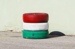 Męczy obroty handlowych dowód męczy z czerwonymi i białymi zielonymi kolorami Zdjęcie Royalty Free