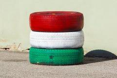 Męczy obroty handlowych dowód męczy z czerwonymi i białymi zielonymi kolorami Zdjęcie Stock