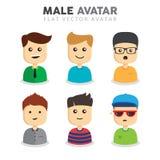 Męscy Avatar wektory Ustawiający Zdjęcia Stock