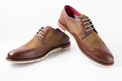 Męscy brązów buty Obrazy Stock