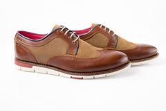 Męscy brązów buty Obraz Stock