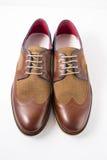 Męscy brązów buty Fotografia Stock