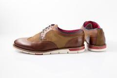 Męscy brązów buty Zdjęcie Royalty Free