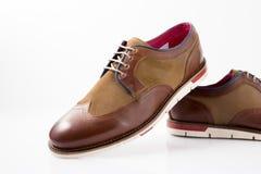 Męscy brązów buty Obraz Royalty Free