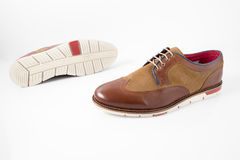 Męscy brązów buty Zdjęcie Stock