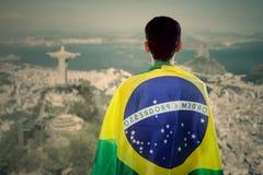 Męscy brazylijscy fan obrazy royalty free