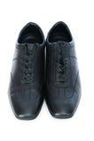 Męscy buty odizolowywający na biel Zdjęcia Stock
