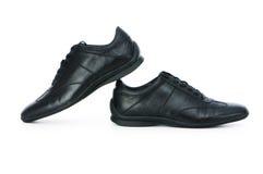 Męscy buty odizolowywający na biel Fotografia Stock