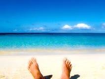 Męscy cieki przy piaskowatą plażą Zdjęcie Stock