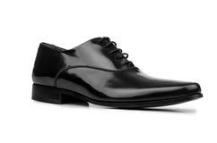 Męscy czerń buty odizolowywający na bielu Obraz Stock