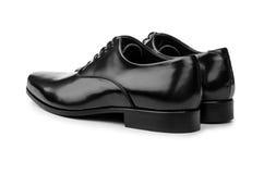 Męscy czerń buty odizolowywający na bielu Zdjęcie Stock