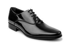 Męscy czerń buty odizolowywający na bielu Zdjęcie Royalty Free