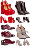 Męscy i żeńscy buty Zdjęcia Stock