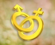 Męscy i Żeńscy symbole ilustracji