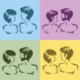 Męscy i żeńscy symbole ilustracja wektor