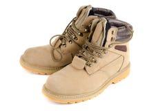 Męscy kolor żółty buty Zdjęcia Stock