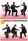 Męscy ludzie biznesu uścisków dłoni Ustawiają 3 Obrazy Stock