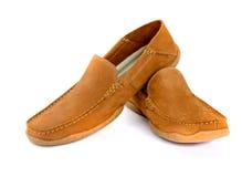 Męscy moda buty odizolowywający Zdjęcie Royalty Free