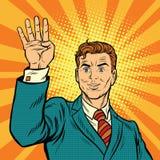 Męscy palce ręka pokazują numerowi cztery ilustracji