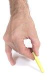 Męscy ręka remisy Fotografia Stock