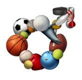 Męscy sporty ilustracji