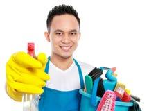 Męska cleaning usługa Zdjęcia Stock