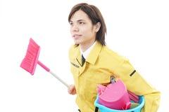 Męska cleaning usługa Zdjęcie Stock