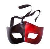 Męska czarna i czerwona karnawał maska Fotografia Royalty Free