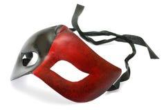 Czytająca i czarna karnawał maska Obraz Royalty Free