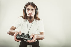 Męska gracz ostrość na sztuk grach Fotografia Stock
