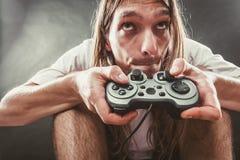 Męska gracz ostrość na sztuk grach Obraz Royalty Free
