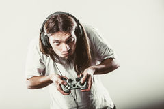 Męska gracz ostrość na sztuk grach Obrazy Royalty Free