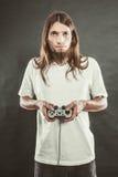 Męska gracz ostrość na sztuk grach Zdjęcie Stock