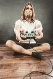 Męska gracz ostrość na sztuk grach Fotografia Royalty Free