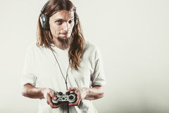 Męska gracz ostrość na sztuk grach Obraz Stock