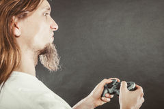 Męska gracz ostrość na sztuk grach Zdjęcia Royalty Free