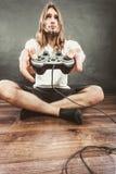 Męska gracz ostrość na sztuk grach Obrazy Stock