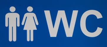 Męska i żeńska WC ikony oznaczania toaleta Odgórny widok Obraz Stock