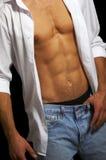 męska mięśniowa półpostać Zdjęcia Royalty Free
