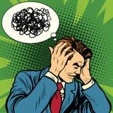 Męska migrena wprawiać w zakłopotanie ilustracji