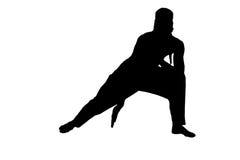 Męska ninja sylwetka na białym tle zdjęcia royalty free